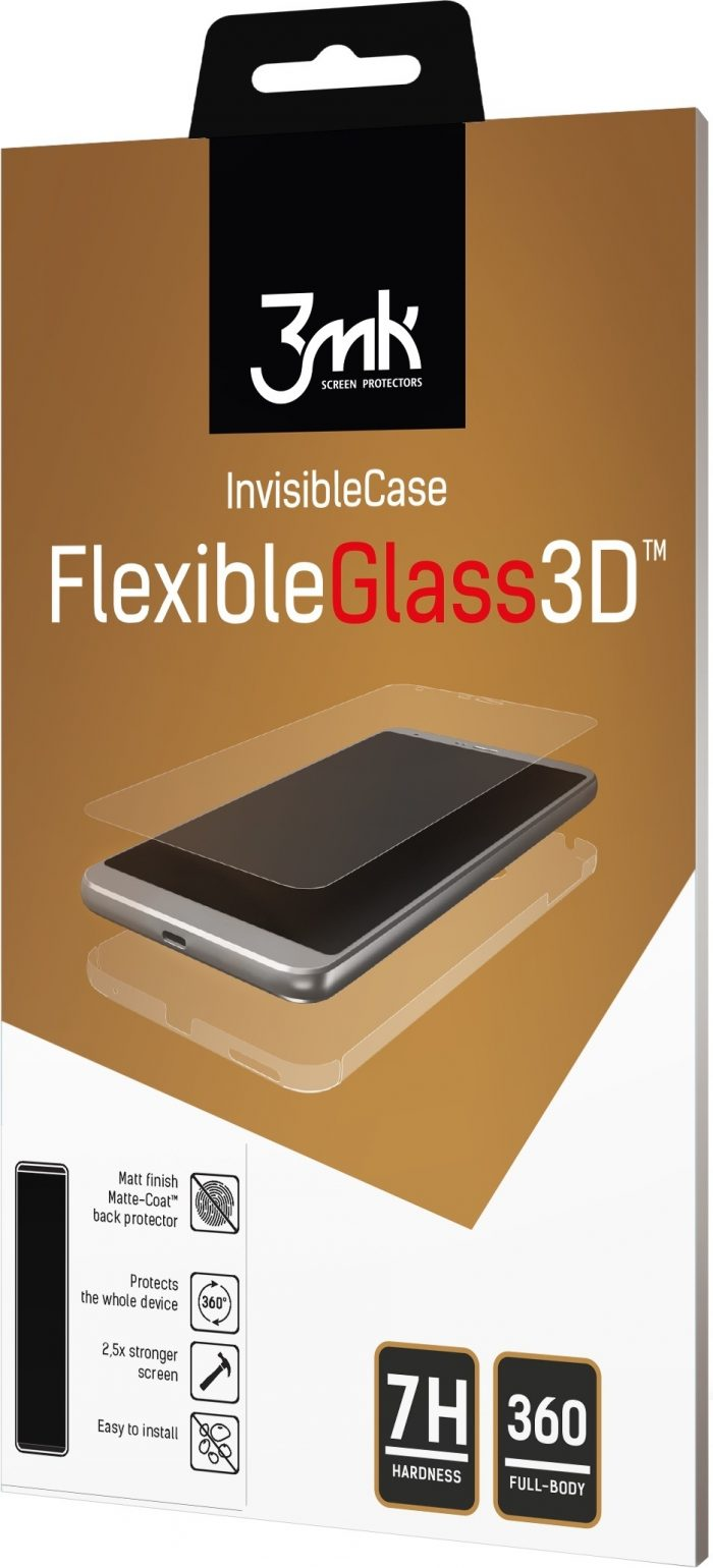 3mk flexibleglass 3d apple iphone 6/6s plus high-grip - 3mk 5901571165455 1