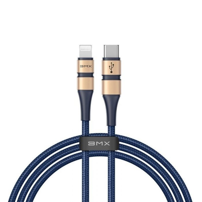 BMX Double-deck MFi certified Cable Type-C to Lightning PD 18W 1.2m Gold+Blue - BASEUS 6928548565239
