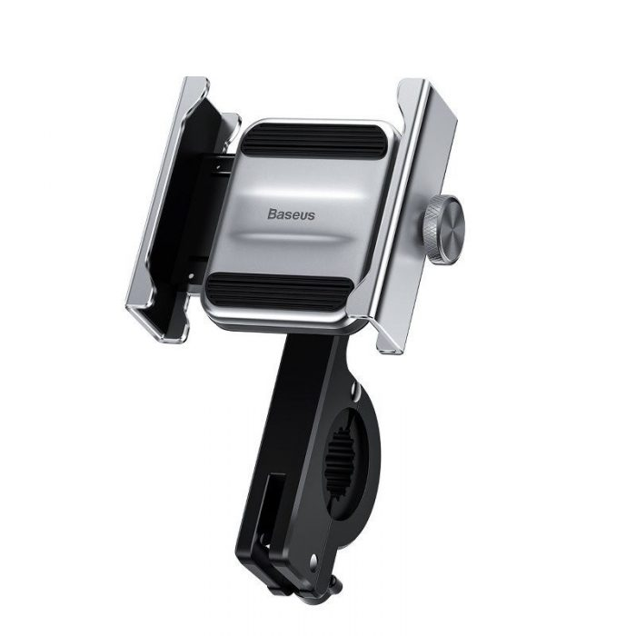 baseus knight motorcycle holder (applicable for bicycle) silver - baseus 6953156210615 2 1