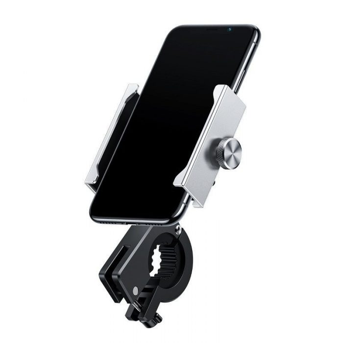 baseus knight motorcycle holder (applicable for bicycle) silver - baseus 6953156210615 8