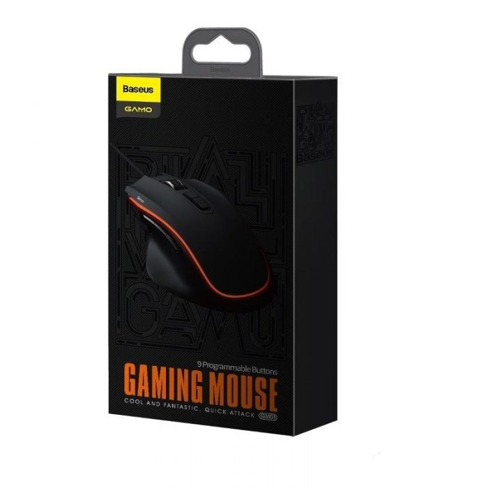 baseus gamo 9 programmable buttons gaming mouse black - baseus 6953156212800 7 1