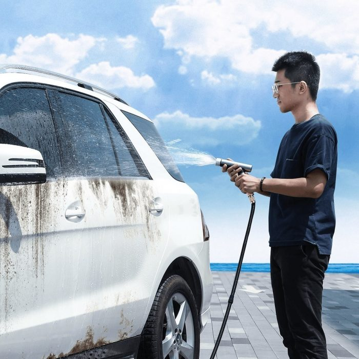 baseus simple life car wash spray nozzle (with magic telescopic water pipe) 7.5m after water filling black - baseus 6953156212947 6 1