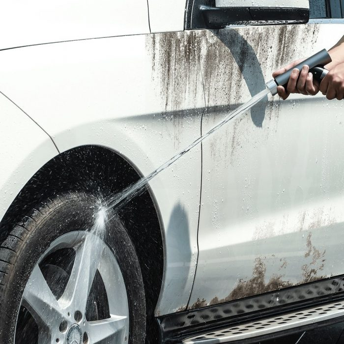 baseus simple life car wash spray nozzle (with magic telescopic water pipe) 7.5m after water filling black - baseus 6953156212947 7 1