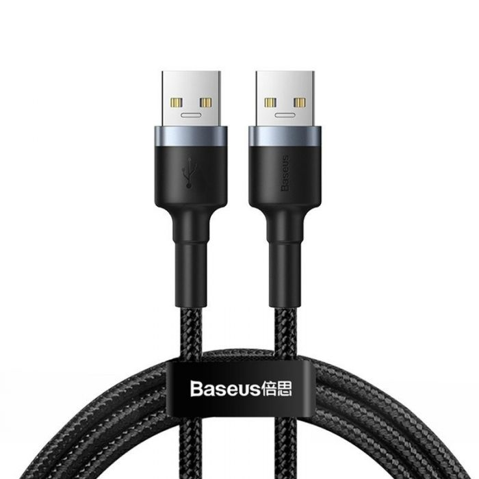 Baseus cafule Cable USB3.0 Male TO USB3.0 Male 2A 1m Dark gray - BASEUS 6953156214477