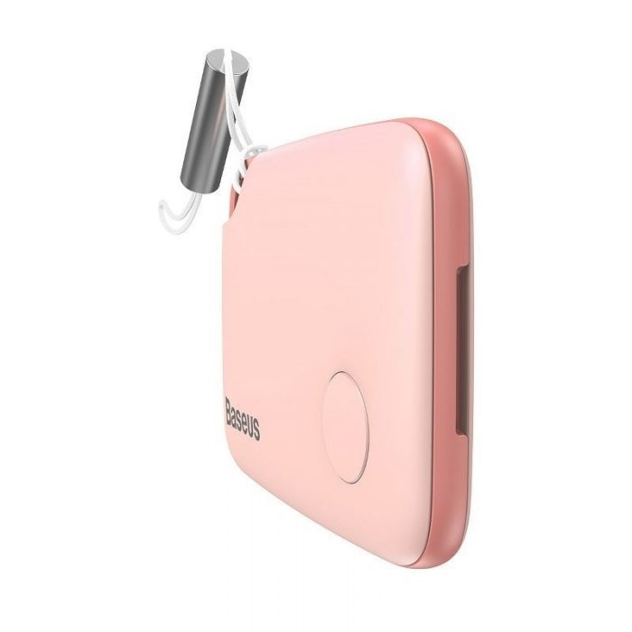 baseus intelligent t2 ropetype anti-loss device pink - baseus 6953156214958 1 1
