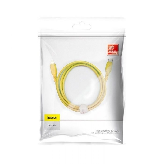 Baseus Colourful Cable Type-C For iP 18W 1.2m Yellow - BASEUS 6953156216358 7