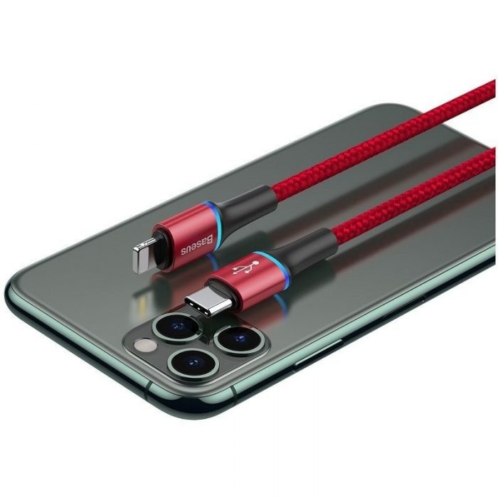 Baseus halo data cable Type-C to iP PD 18W 1m Red - BASEUS 6953156216549 4