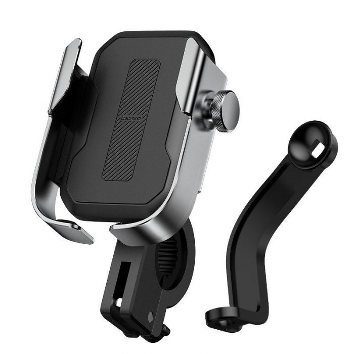 baseus armor motorcycle holder(applicable for bicycle)silver - baseus 6953156217553 1 1