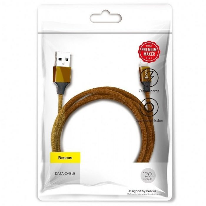 Baseus Yiven Lightning Cable 120cm 2A Brown - BASEUS 6953156248816 5