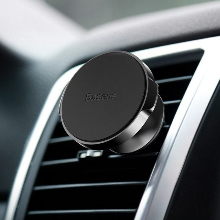 baseus small ears air vent magnetic car mount black - baseus 6953156253025 5 1