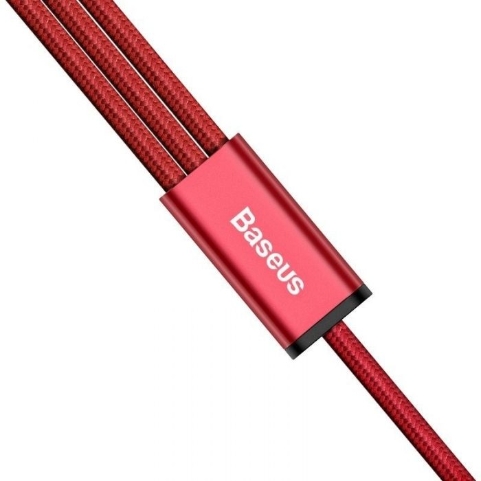 baseus usb rapid cable 3in1 type-c / lightning / micro 3a 1,2m red - baseus 6953156256385 4