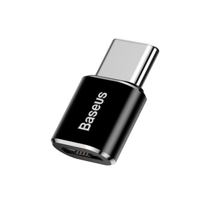 Baseus Micro USB to USB Type-C Adapter Black - BASEUS 6953156263529 1