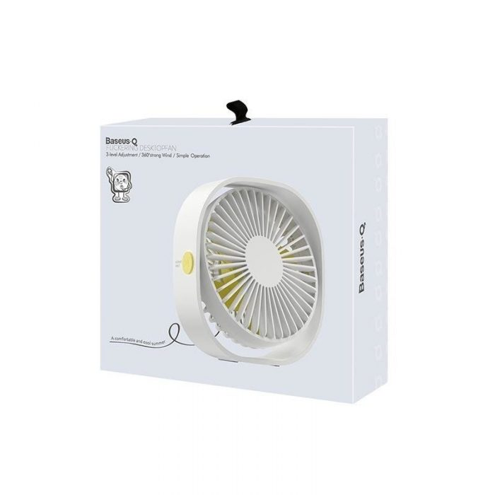 baseus mini desktop fan white - baseus 6953156273634 3 1