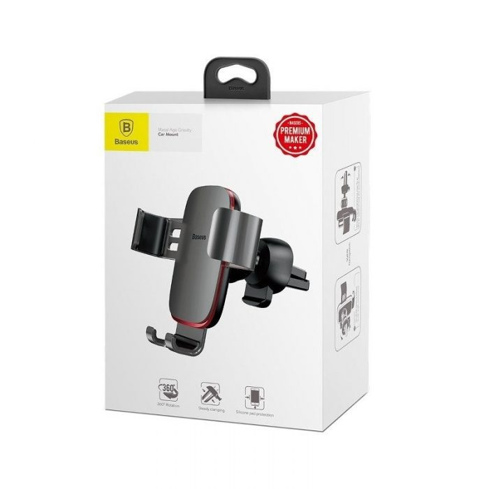 baseus gravity air vent car mount gray - baseus 6953156276253 6 1