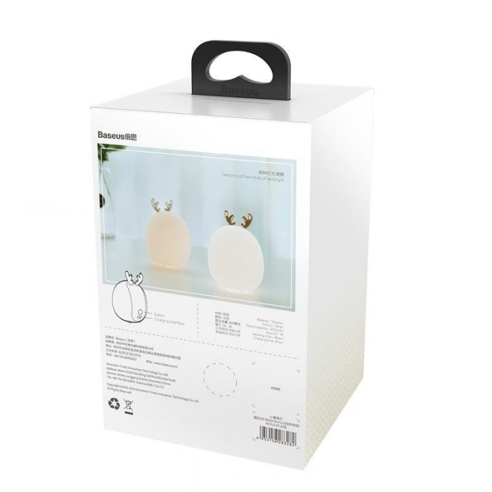 baseus deer night lamp white - baseus 6953156283282 1 1