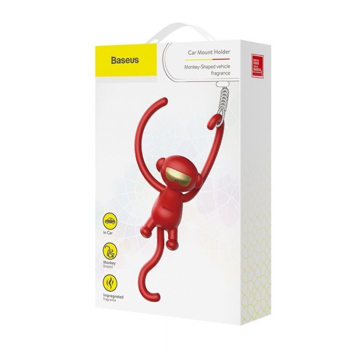 baseus monkey car fragrance red - baseus 6953156288119 7 1