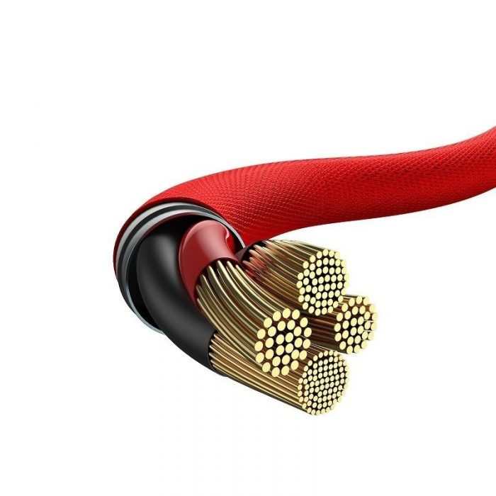 Baseus Yiven Series Type-C to iP Cable 2A 2m Red - BASEUS 6953156289444 1