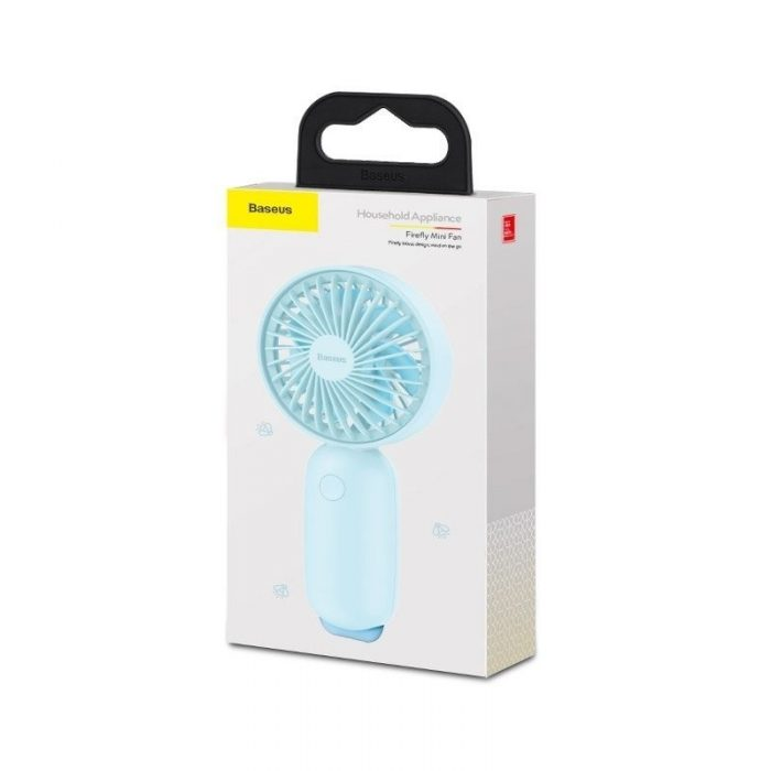 portable mini fan baseus firefly blue - baseus 6953156290914 4 1