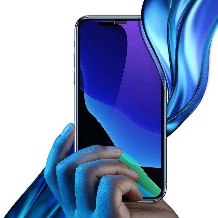 baseus full-screen curved anti-blue light tempered glass screen protector (cellular dust prevention) for ip xs max black - baseus 6953156294608 1