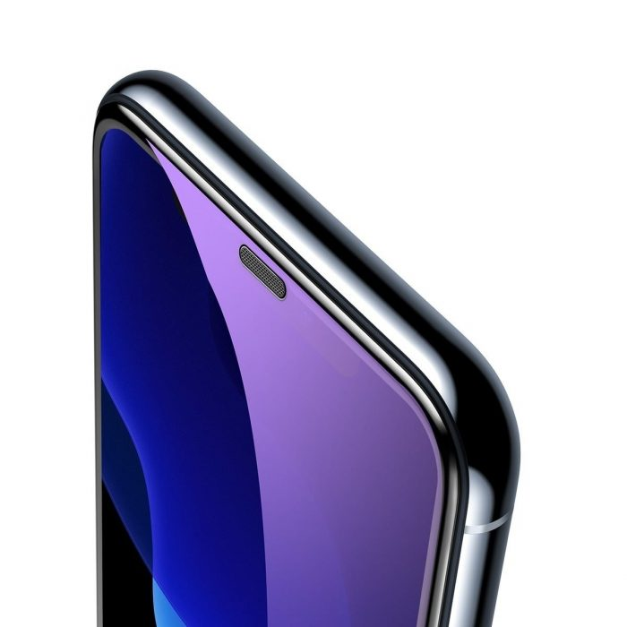 baseus full-screen curved anti-blue light tempered glass screen protector (cellular dust prevention) for ip xs max black - baseus 6953156294608 2