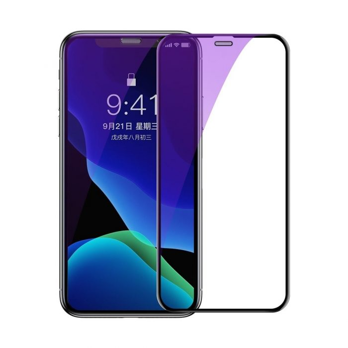 baseus full-screen curved anti-blue light tempered glass screen protector (cellular dust prevention) for ip xs max black - baseus 6953156294608