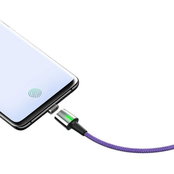 baseus zinc magnetic cable usb for type-c 2a 2m purple - baseus 6953156294882 2 1