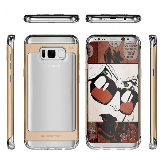 ghostek cloak 2 samsung galaxy s8 gold + screen protector - ghostek 643217499498 4 1