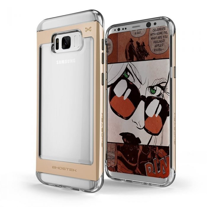 ghostek cloak 2 samsung galaxy s8 gold + screen protector - ghostek 643217499498 6