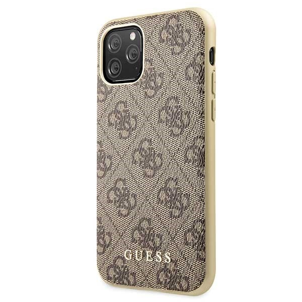 guess guhcn58g4gb iphone 11 pro brown hard case 4g collection - guess 3700740461754 1