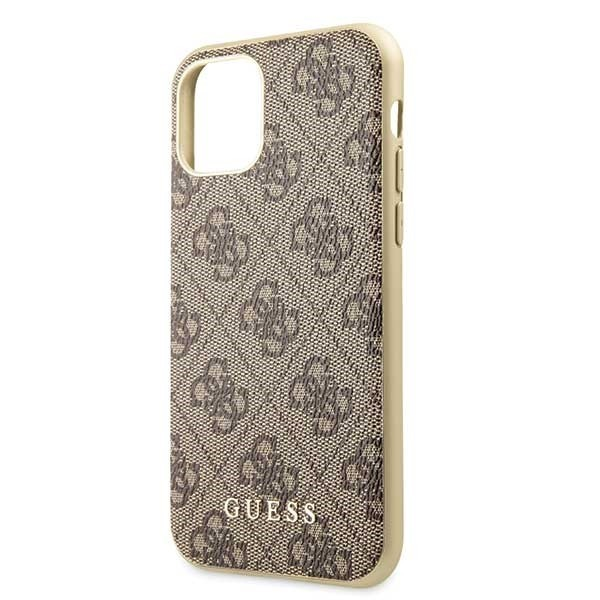 guess guhcn58g4gb iphone 11 pro brown hard case 4g collection - guess 3700740461754 2