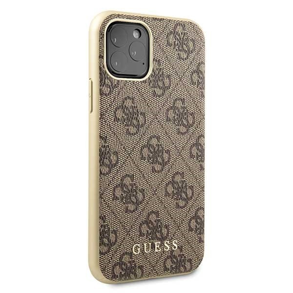 guess guhcn58g4gb iphone 11 pro brown hard case 4g collection - guess 3700740461754 4