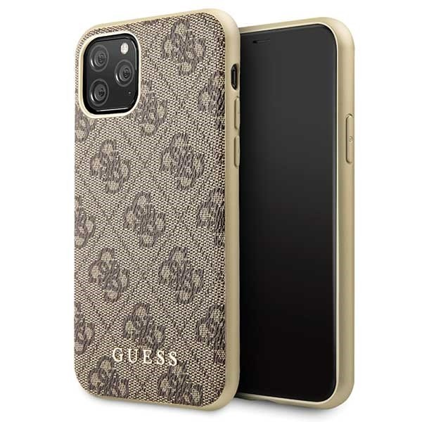 guess guhcn58g4gb iphone 11 pro brown hard case 4g collection - guess 3700740461754