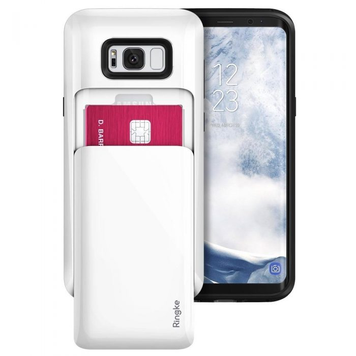 ringke acces wallet samsung galaxy s8 plus gloss white - ringke 8809525019540 8