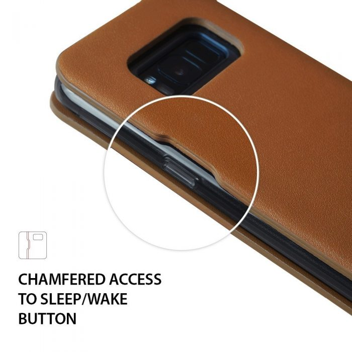 ringke wallet fit samsung galaxy s8 plus brown - ringke 8809550342187 4 1