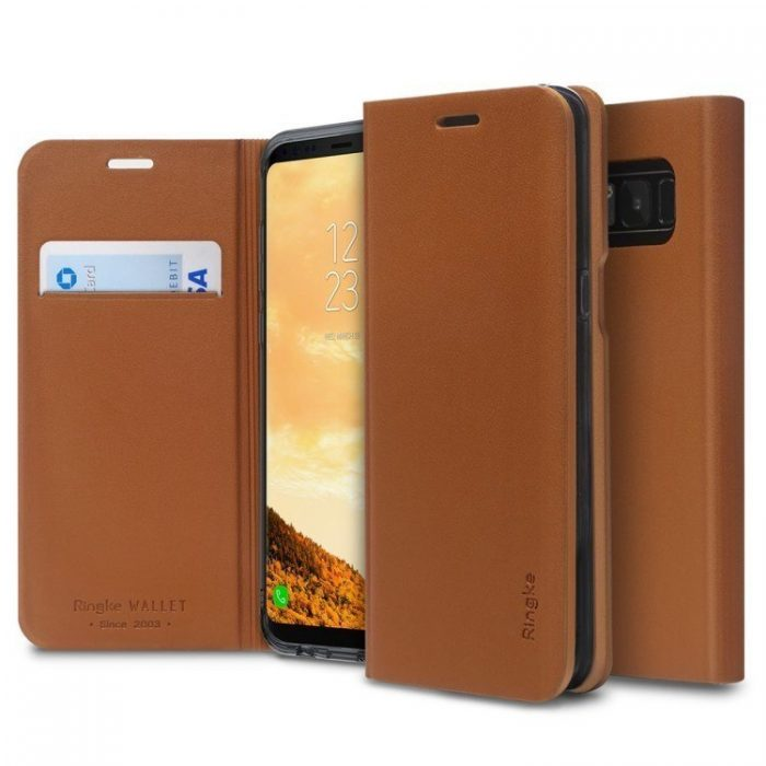 ringke wallet fit samsung galaxy s8 plus brown - ringke 8809550342187 7