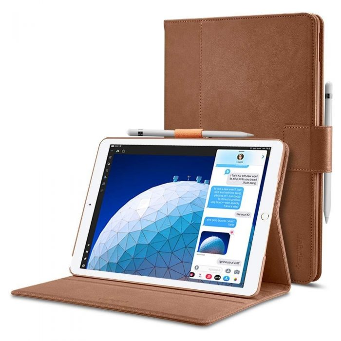 Spigen Stand Folio Apple iPad Air 3 2019 Brown - SPIGEN 8809640256905