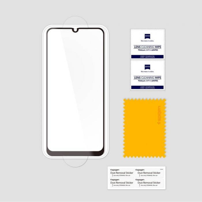 ochranné sklo spigen glas.tr slim samsung galaxy a40 full cover case friendly - spigen 8809671011474 6 1