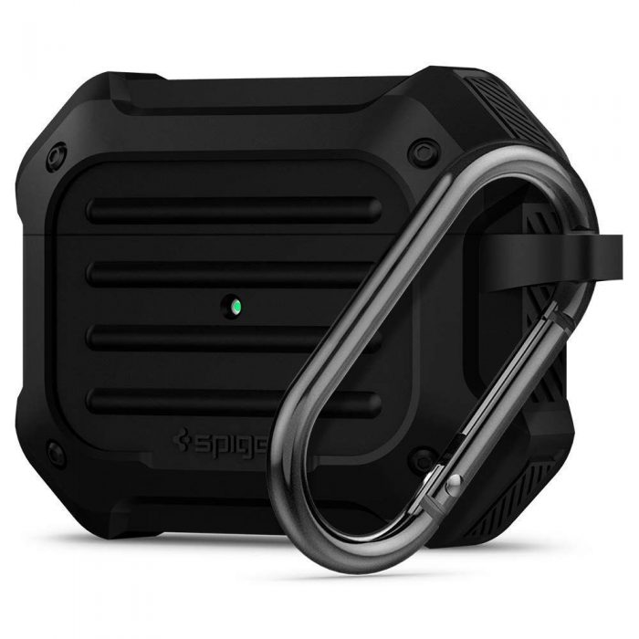 spigen tough armor airpods pro black - spigen 8809685623991
