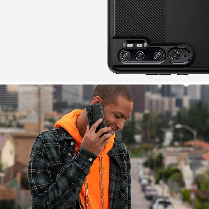 Spigen Rugged Armor Xiaomi Mi Note 10 Black - SPIGEN 8809685624745 2