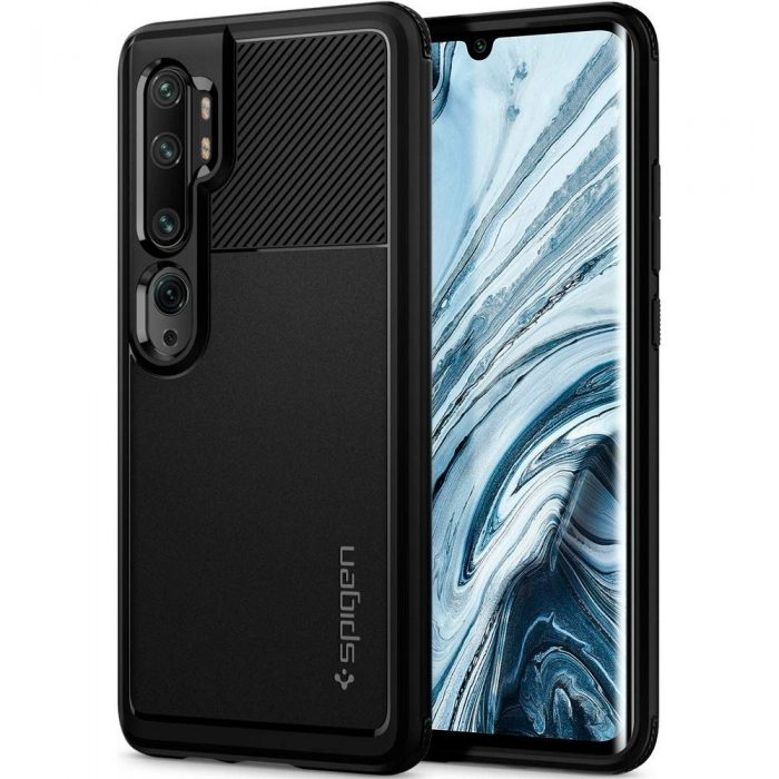 Spigen Rugged Armor Xiaomi Mi Note 10 Black - SPIGEN 8809685624745