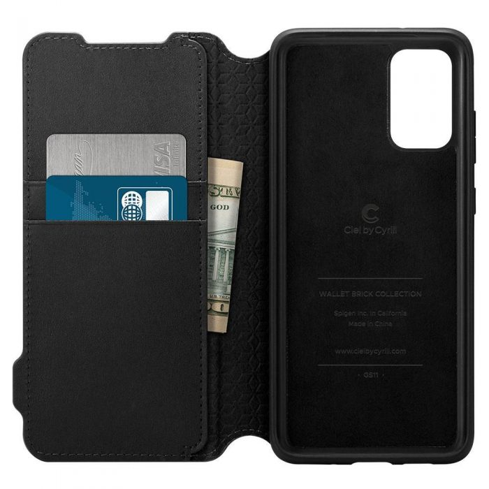 Spigen Ciel Wallet Brick Samsung Galaxy S20+ Plus Black - SPIGEN 8809685626367 1