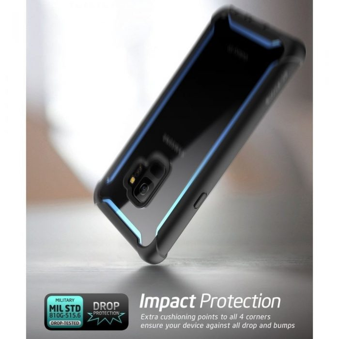 supcase iblsn ares galaxy s9 black/blue - supcase 843439100312 1 1