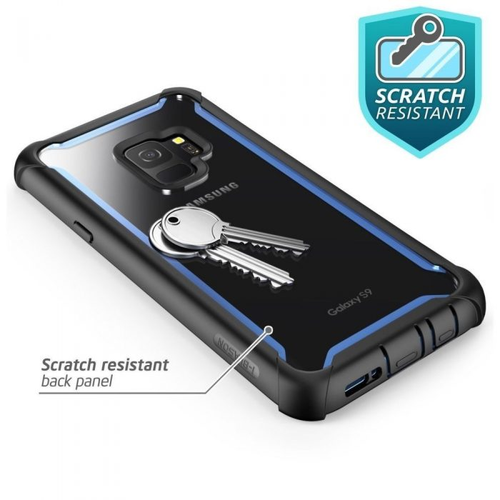 supcase iblsn ares galaxy s9 black/blue - supcase 843439100312 3 1