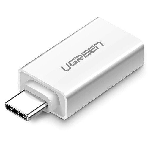 adapter usb-a 3.0 to usb-c 3.1 ugreen white - ugreen 6957303831555