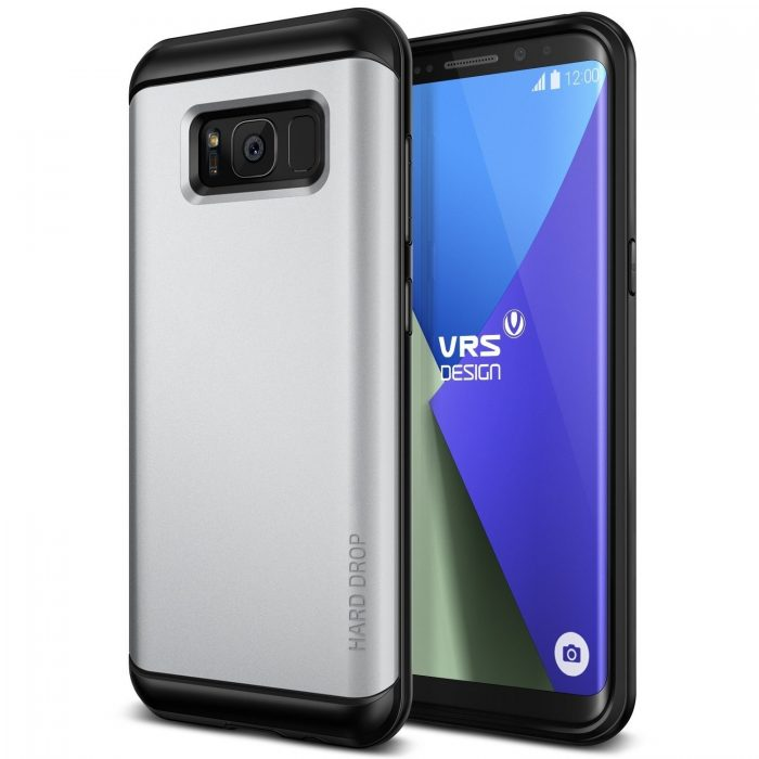vrs design hard drop samsung galaxy s8 plus light silver - vrs design 8809477686067 4