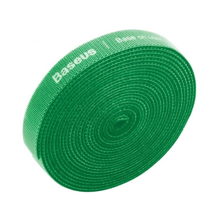 baseus rainbow circle velcro straps 3m green - export 118