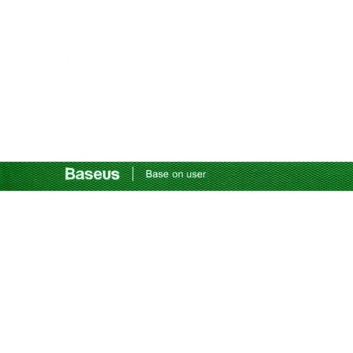 baseus rainbow circle velcro straps 3m green - export 120