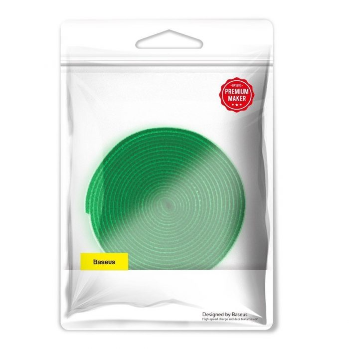 baseus rainbow circle velcro straps 3m green - export 124
