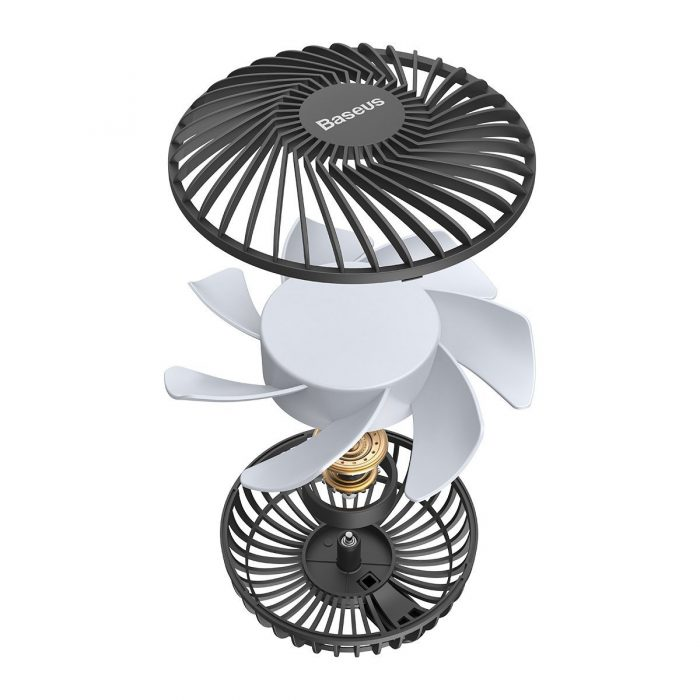 baseus departure vehicle fan mounted on air outlet car windmill black - export 152