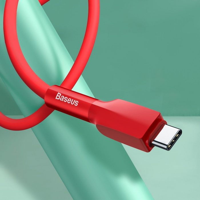 Baseus Silica Gel USB USB-C Cable 3A 2m Red - export 384